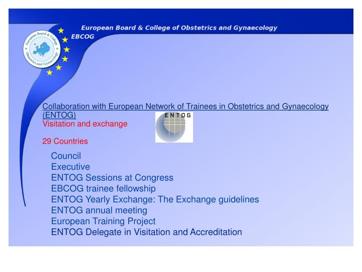 Collaboration with European Network of Trainees in Obstetrics and