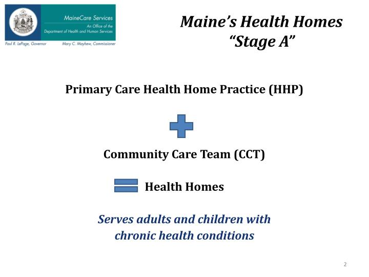 Maine's Health Homes