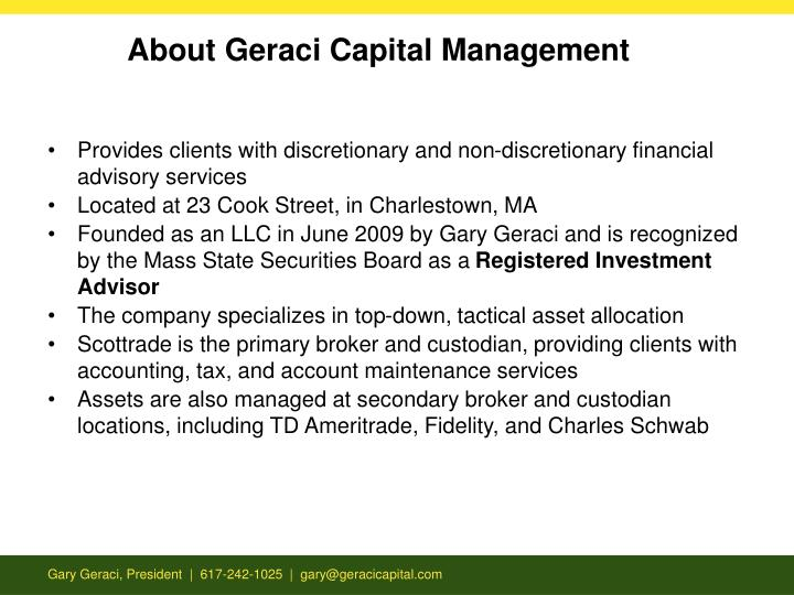 About Geraci Capital Management