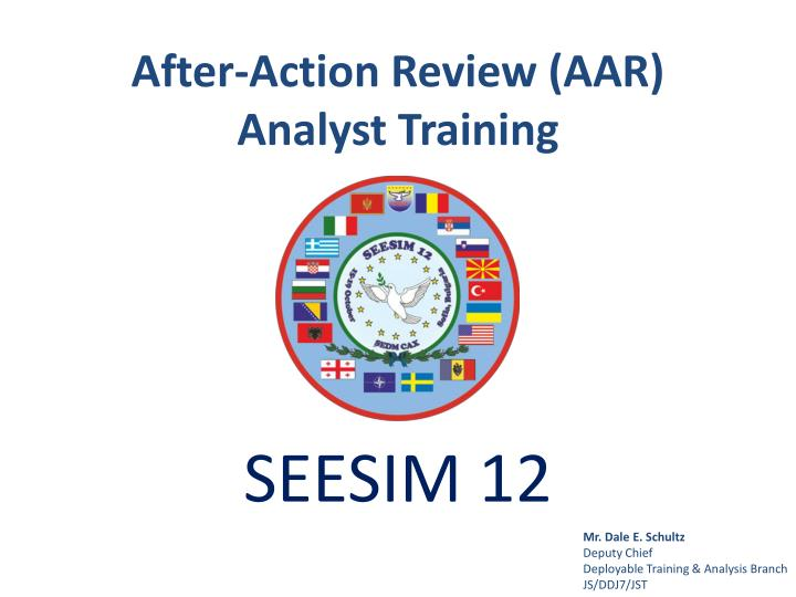 after action review aar analyst training n.