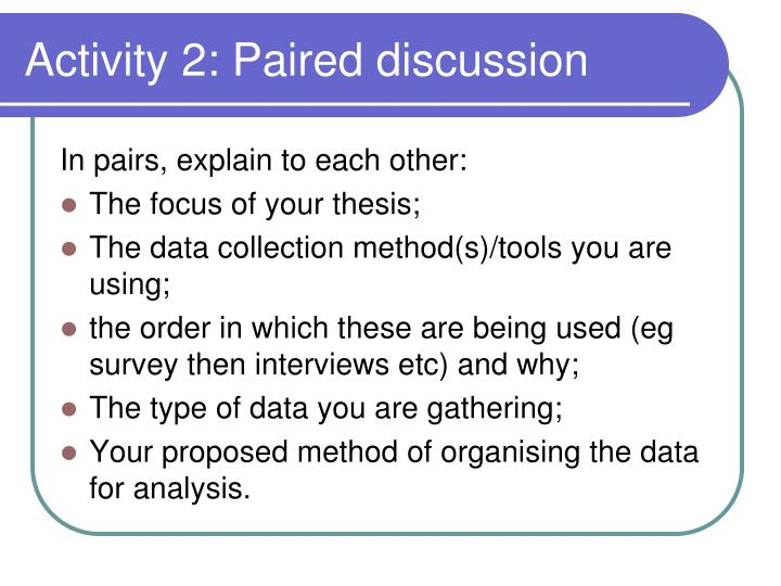 Activity 2: Paired discussion