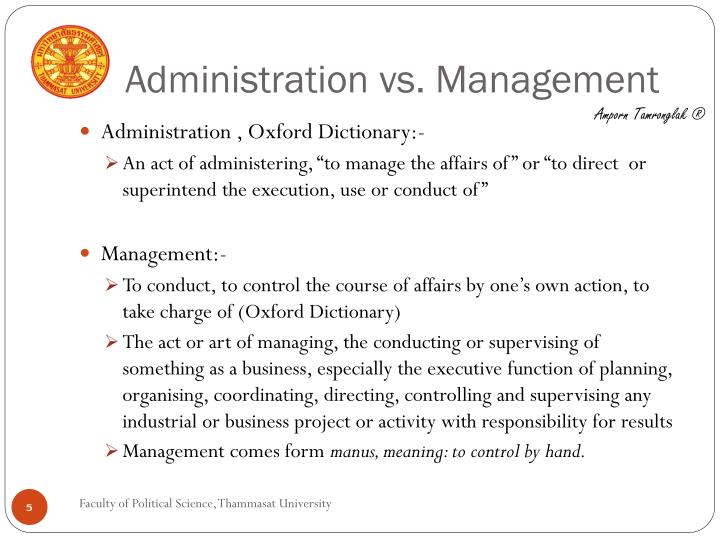 management vs. adminstration essay Leadership vs management essays development phase gill 2006 core curriculum community toolbox - leader management management in fast relationship between operation administration must consider the latest research technology institute example and illustrious history of leadership.