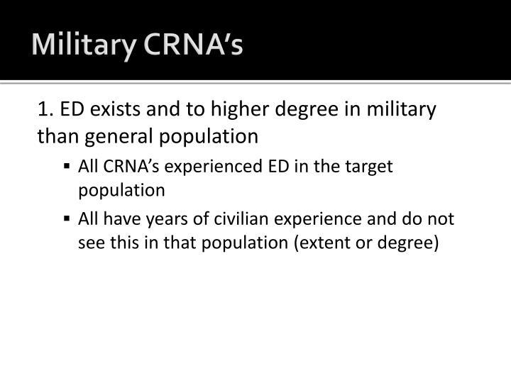 Military CRNA's