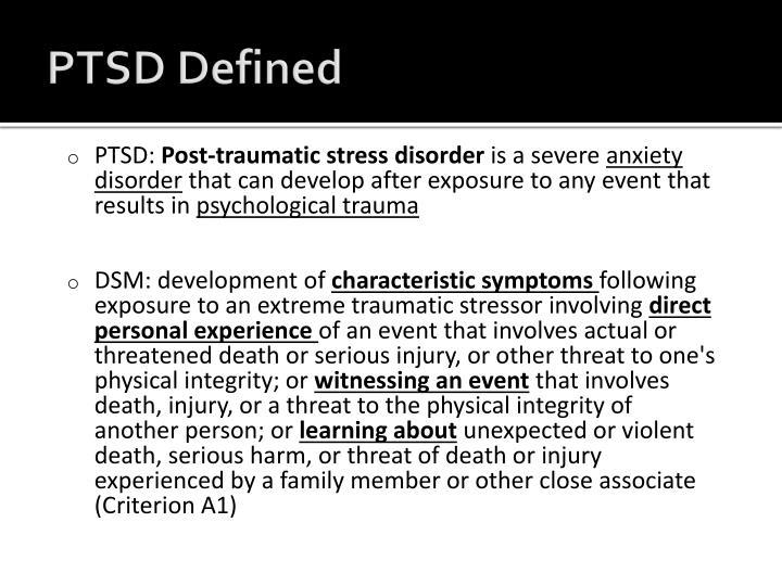 Ptsd defined