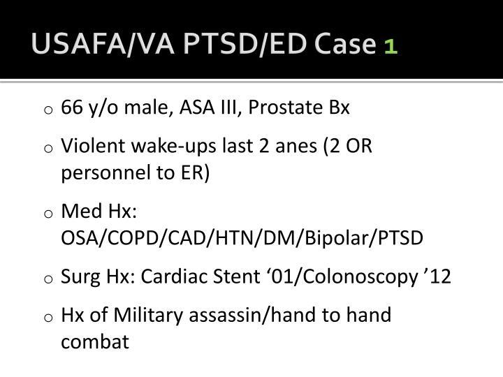 USAFA/VA PTSD/ED Case