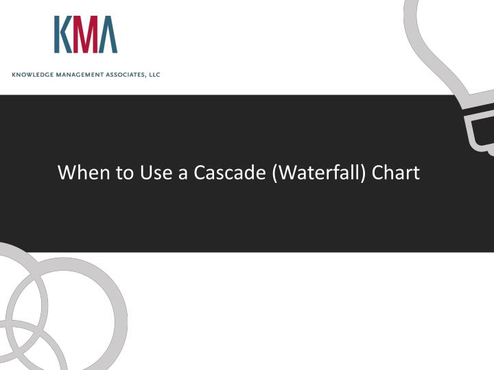 when to use a cascade waterfall chart n.