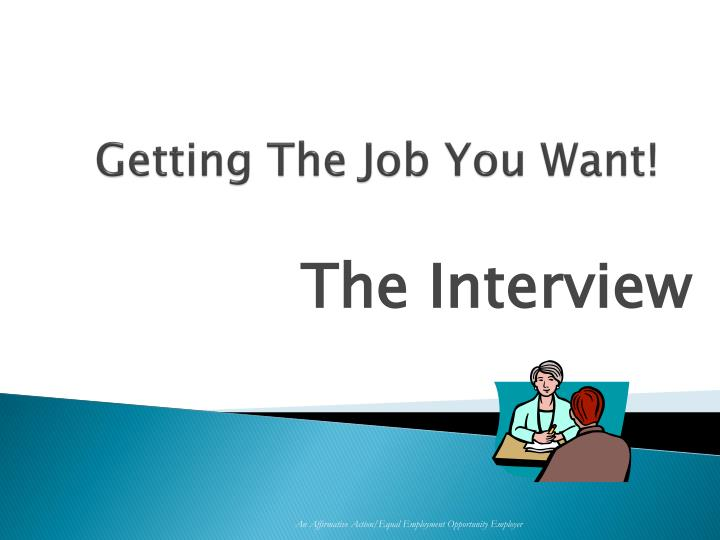 getting the job you want n.