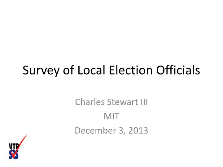 survey of local election officials n.