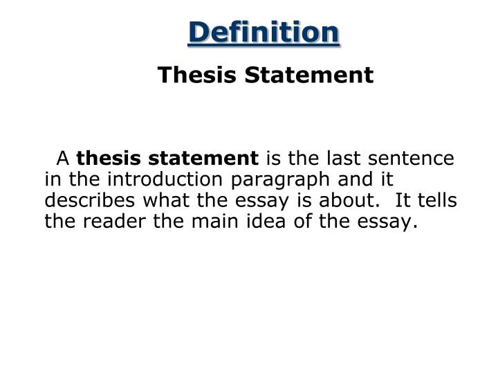superb thesis statement Since a superb thesis statement is the consequence of research, reflection, and, at times, a draft or a couple of the full paper, it may seem that it ought to come at the conclusion of somebody's essay.