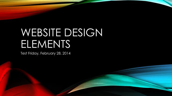 website design elements n.