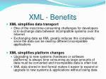 xml benefits1