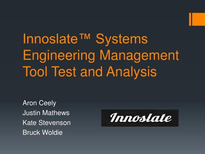 innoslate systems engineering management tool test and analysis n.