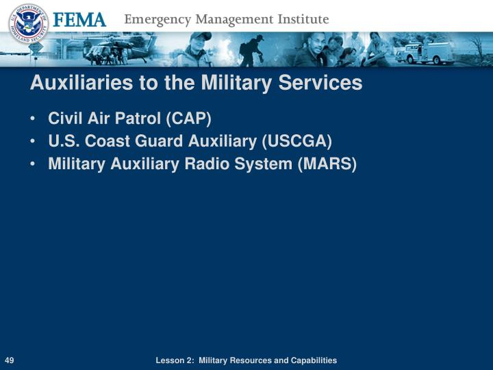 Auxiliaries to the Military Services