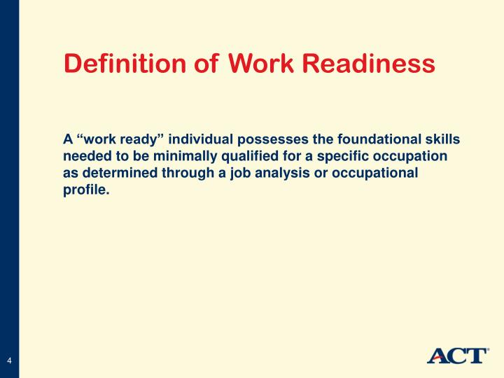 academic readiness definition