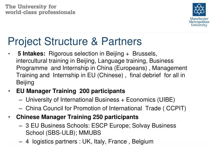 Project Structure & Partners
