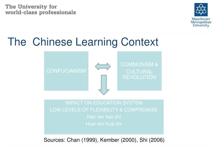 The  Chinese Learning Context