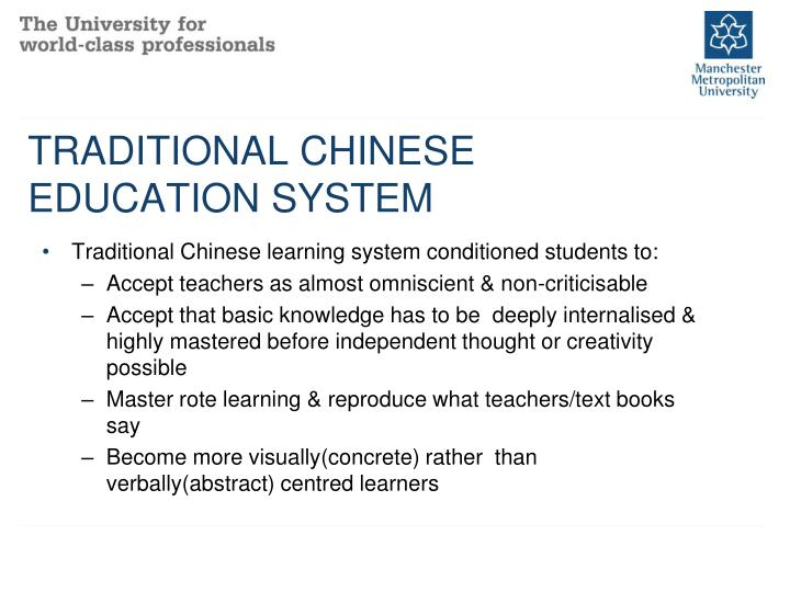 TRADITIONAL CHINESE EDUCATION SYSTEM