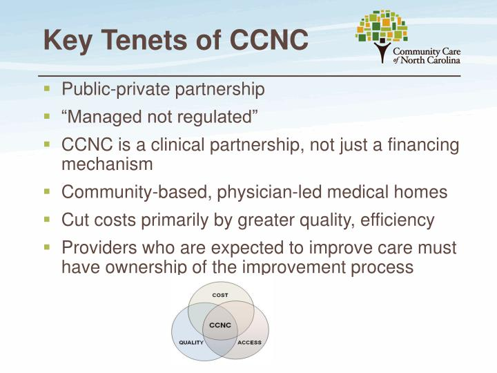 Key Tenets of CCNC
