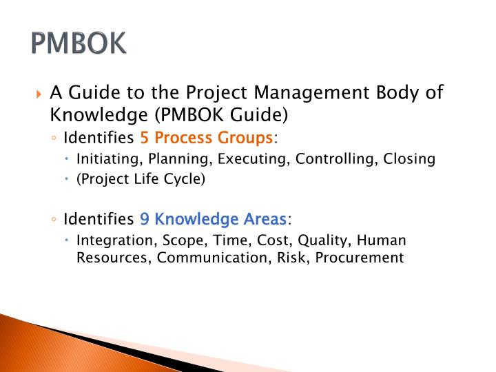 A Guide To The Project Management Body Of Knowledge PMBOK