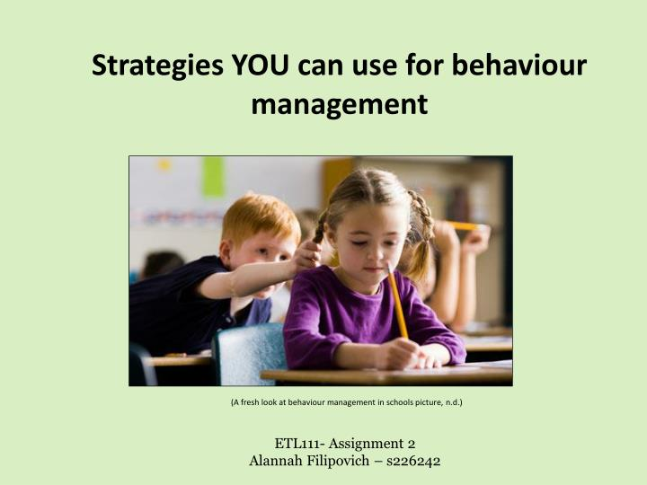 strategies you can use for behaviour management n.
