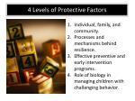 4 levels of protective f actors