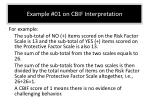 example 01 on cbif interpretation