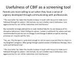 usefulness of cbif as a screening tool2