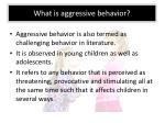 what is aggressive behavior
