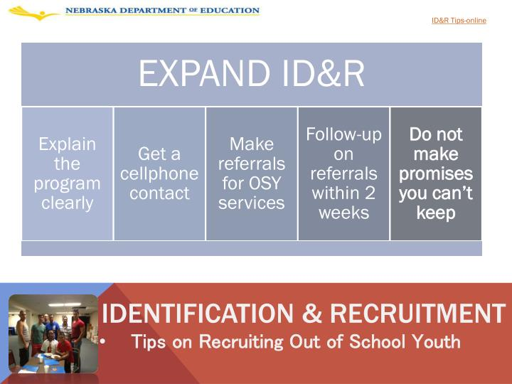 ID&R Tips-online