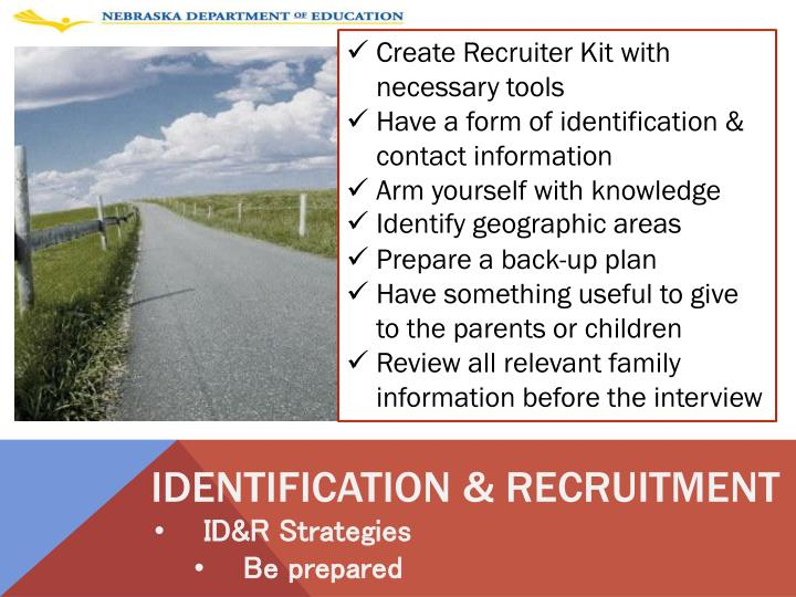 Create Recruiter Kit with necessary tools