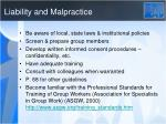liability and malpractice
