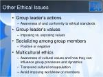 other ethical issues