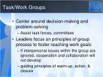 task work groups