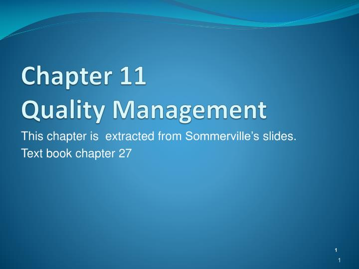 chapter 11 quality management n.