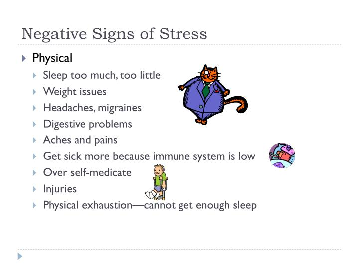 Negative Signs of Stress