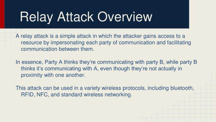 Relay Attack Overview
