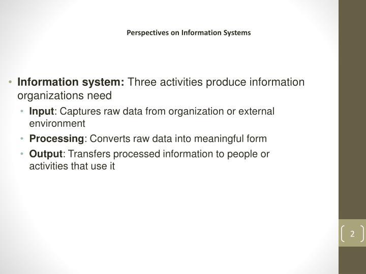 Information system: