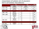 ongoing studies of pi based nrti sparing regimens