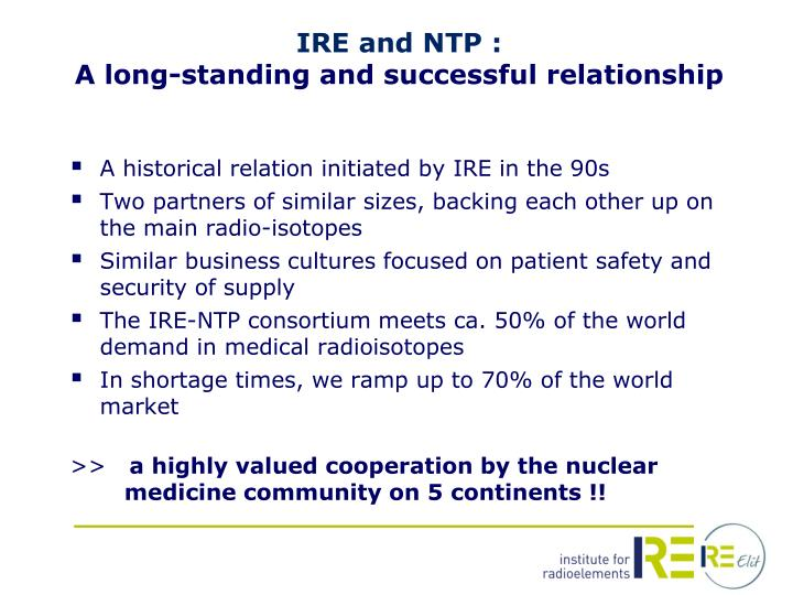 IRE and NTP :