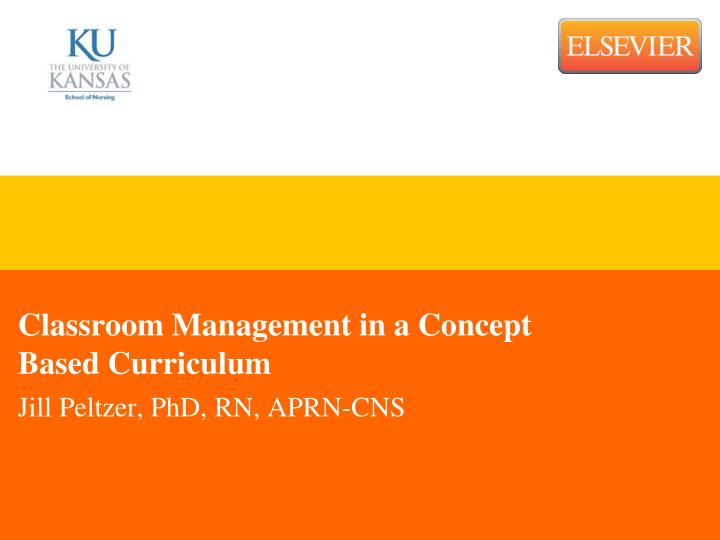 classroom management in a concept based curriculum n.