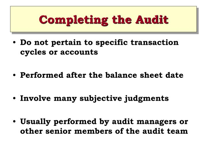 completing the audit This disambiguation page lists articles associated with the title completeness if an internal link led you here, you may wish to change the link to point directly to.