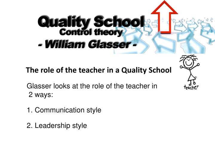 The role of the teacher in a Quality School