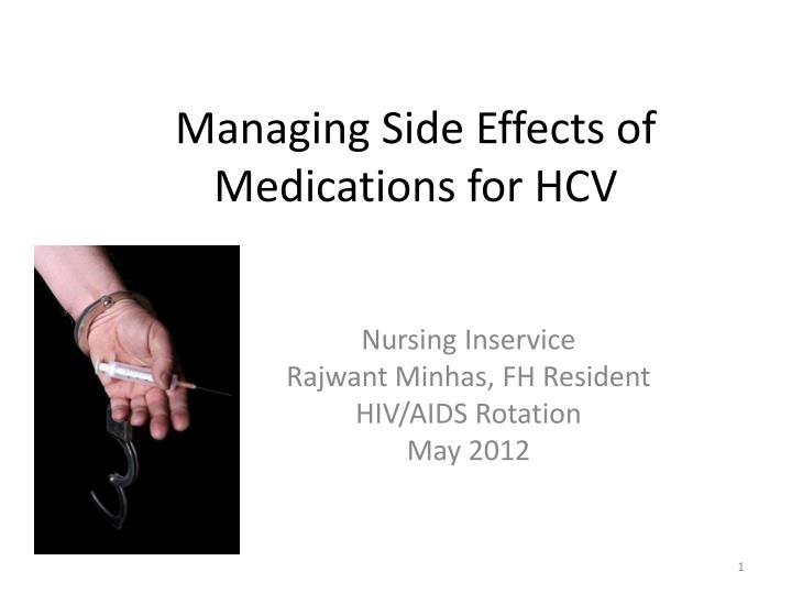 managing side effects of medications for hcv n.