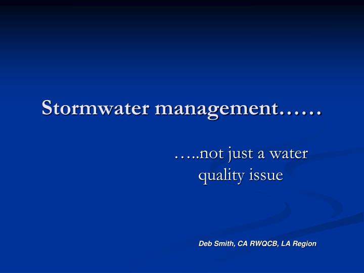 stormwater management n.