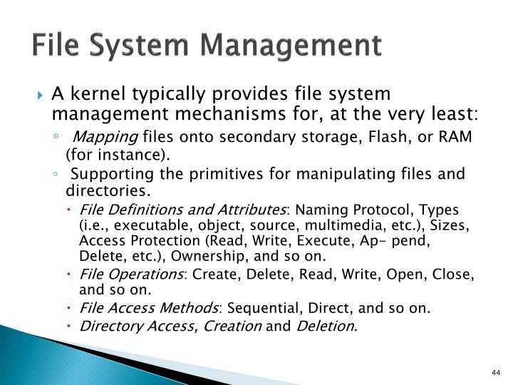 File System Management