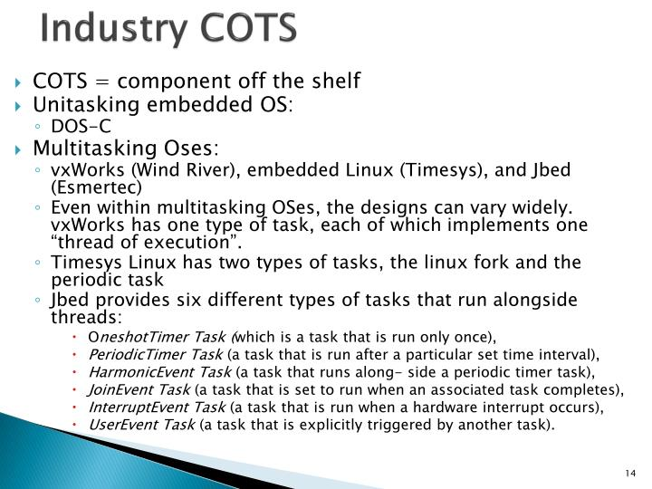 Industry COTS