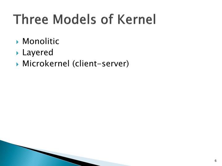 Three Models of Kernel