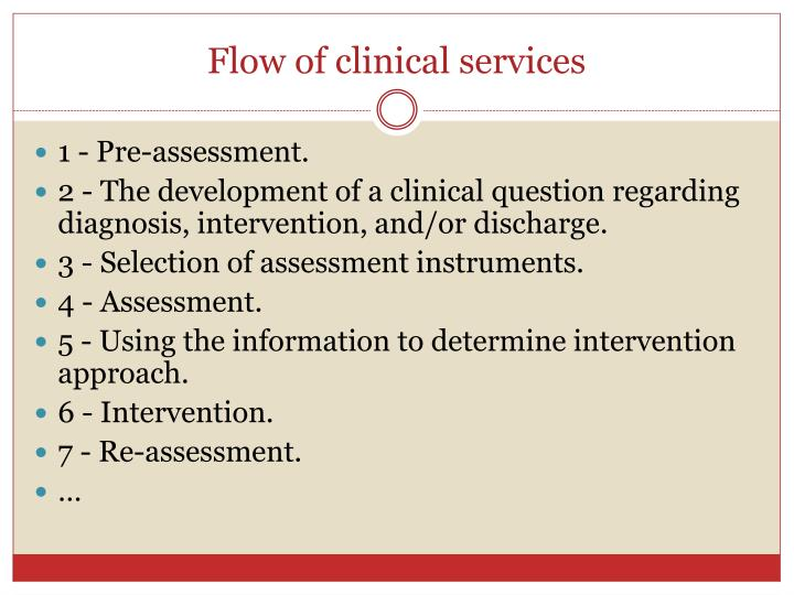 Flow of clinical services