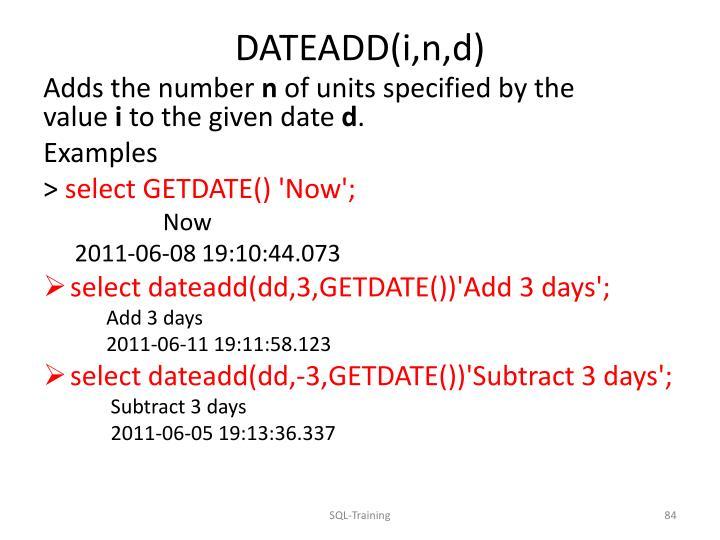 DATEADD(
