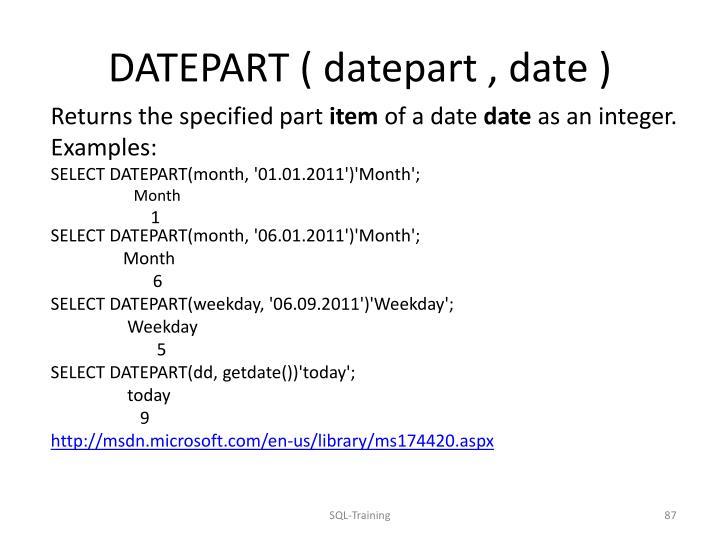 DATEPART (